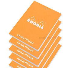 Set of 5 Rhodia Orange A7+ dotPad Dot Matrix Grid 3D Paper Drawing Notepads Pads