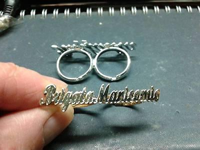 anello doppio dito personalizzato col tuo nome  ARGENTO 925 ANELLI IN OTTONE