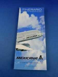 MEXICANA-AIRLINE-TIMETABLE-SCHEDULE-DECEMBER-2000-ADVERTISING-TRAVEL