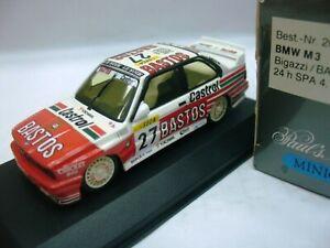 Wow extrêmement rare Bmw M3 E30 Se Spa 1990 # 27 Hahne Gagnant 1:43 Minichamps-dtm 4012138070820