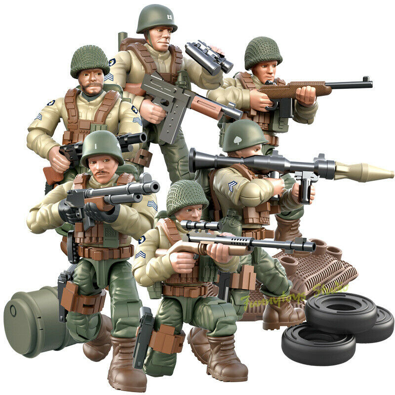 SWAT CAR 12PC POLICE Military Mini figures Weapon Army SSSoldier Fit Lego Toys
