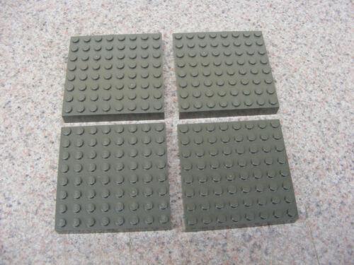4 LEGO Dark Gray Brick Baseplates 8x8 Thick Plate 4201 4709 Harry Potter 10123