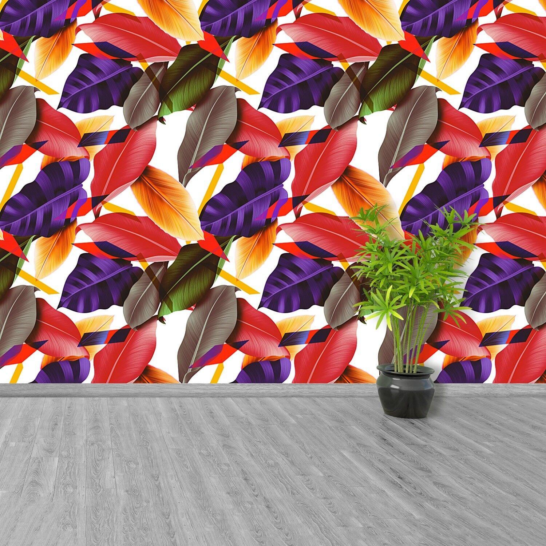 Vlies-Fototapete Fototapeten Tapete aus Vlies Poster Foto Blätter und Blaumen