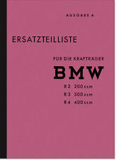 BMW R 2 3 4 Ersatzteilliste Ersatzteilkatalog Teilekatalog R2 R3 R4 Parts List