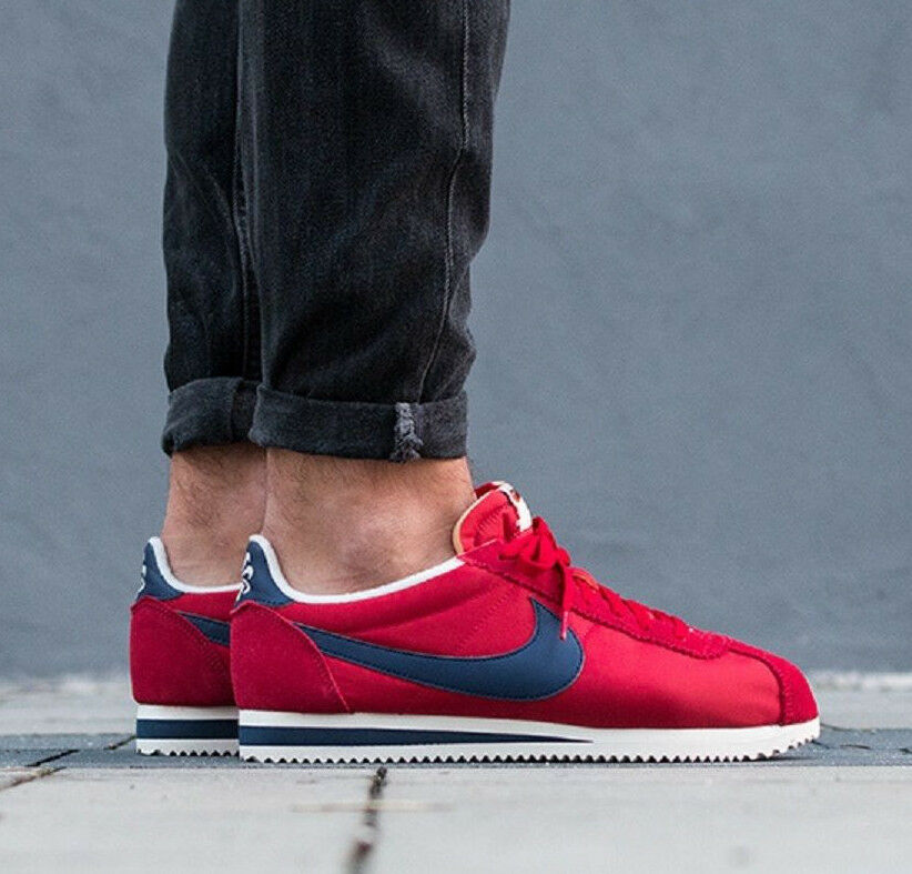 NIKE CLASSIC CORTEZ NYLON AW Running Baskets Gym fashion-UK 11 (EUR 46) rouge