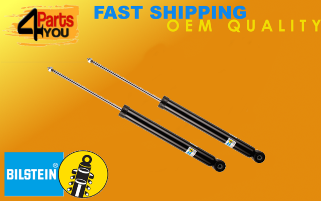 For BMW F30 3 Series Pair Set of 2 Rear Shock Absorbers Bilstein B4 19-220079