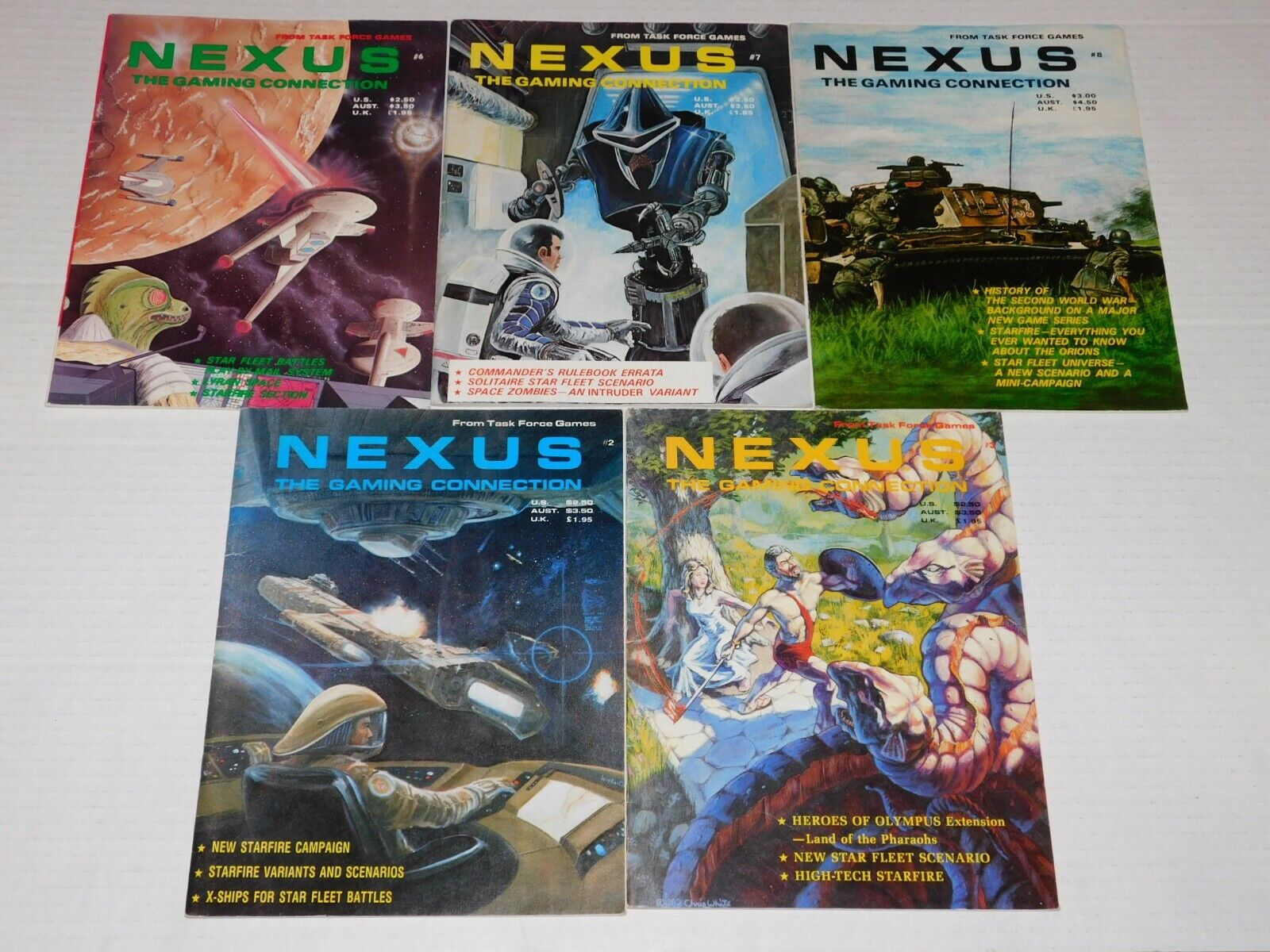 NEXUS Role Playing Gaming Connection Magazine Lot Task Force Games
