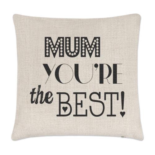 Maman Tu es la meilleure couverture de coussin oreiller drôle Mothers Day
