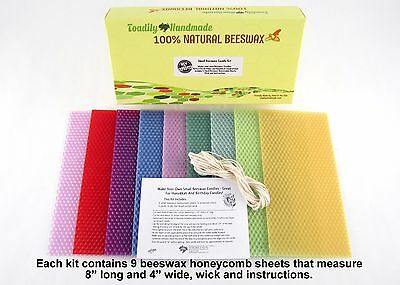 Small Beeswax Candle Making Kit - Great for Birthday or Hanukkah Candles! |  eBay