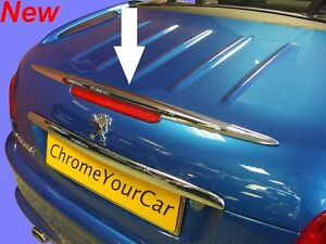 chrome rear trunk spoiler wing moulding fits peugeot 206 cc 206cc ebay. Black Bedroom Furniture Sets. Home Design Ideas