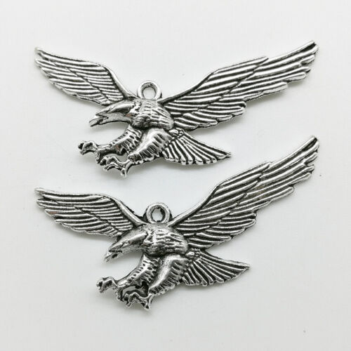 10//30pcs eagle tibet silver charms pendants DIY Jewelry accessories 25*49mm