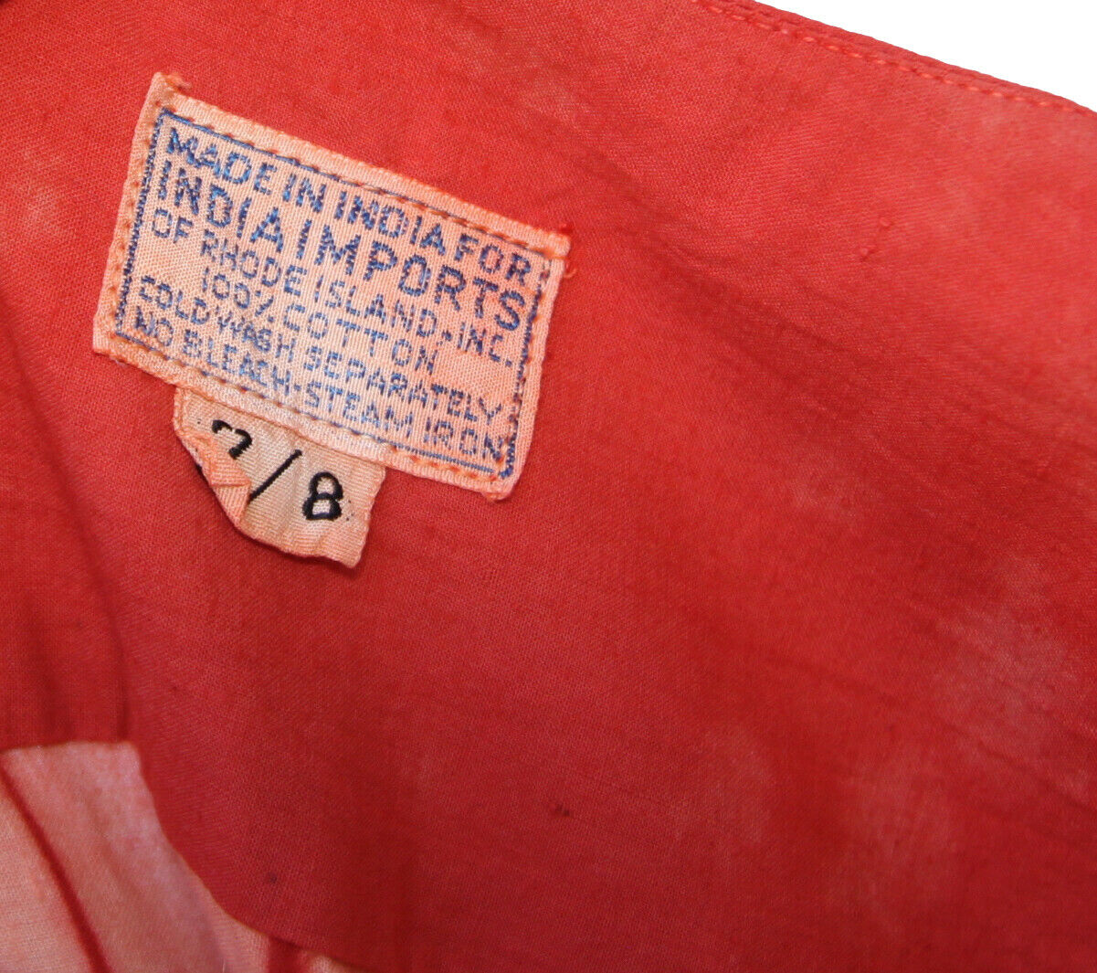 Vintage 70's India Imports of Rhode Island Hippie… - image 3
