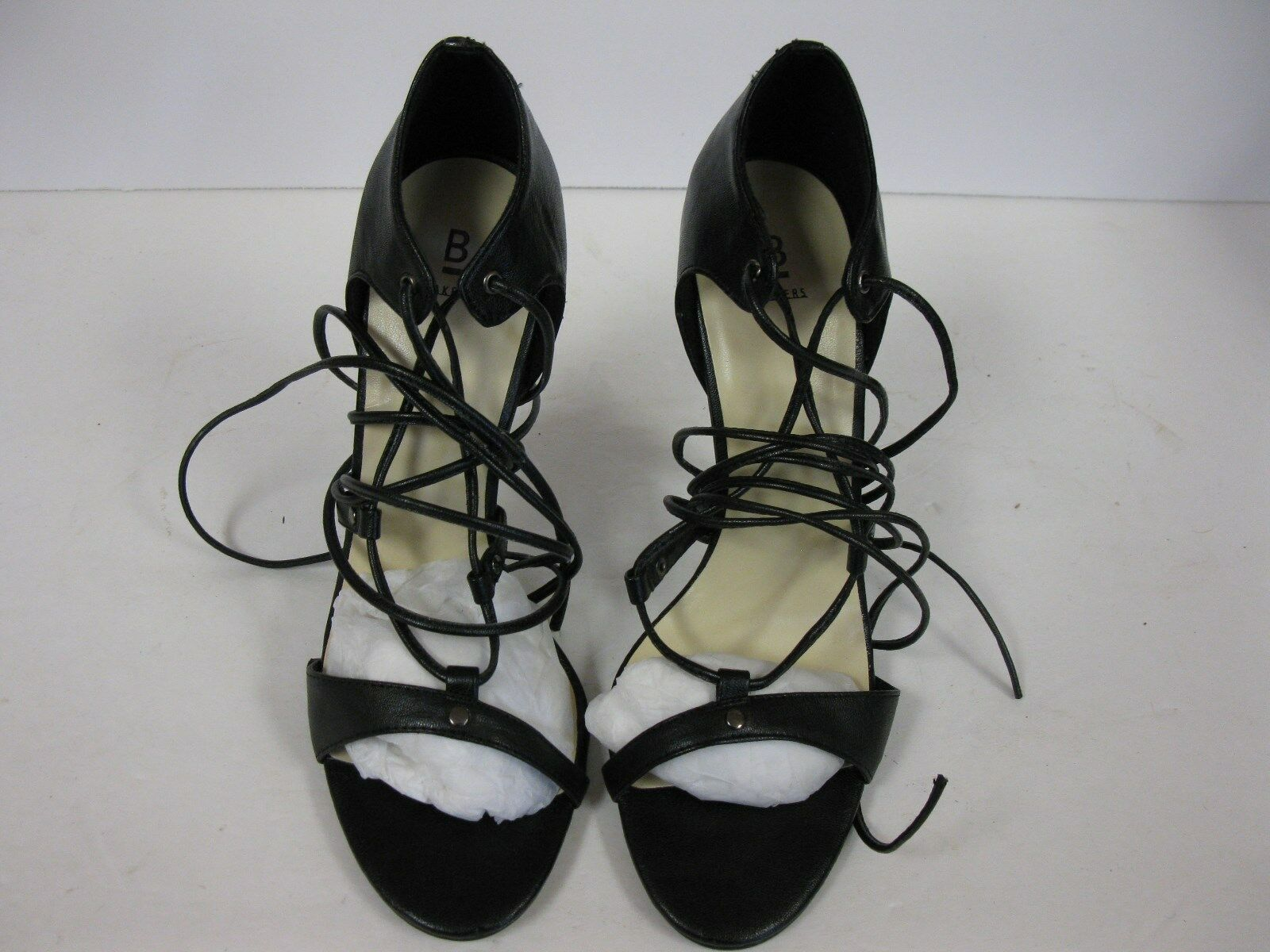 """Bakers """"Winnie"""" Black Strappy Ankle Wrap High Heel Sandals Shoes Sz 10B"""