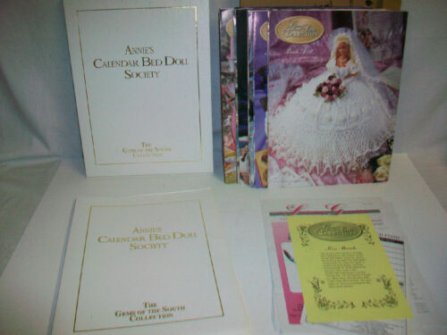Complete ANNIE'S CALENDAR BED DOLL SOCIETY GEMS OF THE SOUTH COLLECTION