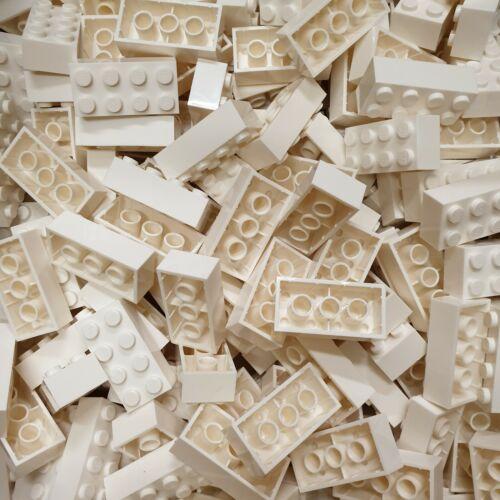 LEGO® 100 Stück Basic Stein White #3001 001 Brick 2 x 4 Weiß