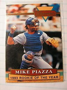 Details About Mike Piazza 1994 Ultra Pro Dodgers 1993 Mlb Rookie Of The Year Card Limited 100k