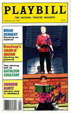"""Anthony Rapp (Signed) """"YOU'RE A GOOD MAN CHARLIE BROWN"""" B. D. Wong 1999 Playbill"""