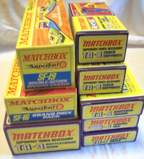 8x MATCHBOX Rennbahn Sets TA-3-5-6-7-8 SF16-19 NEU OVP MIB Sammler RAR CarRacing