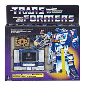 Transformers-Soundwave-G1-Reissue-Walmart-Exclusive-Buzzsaw-New-Hasbro-Cassette