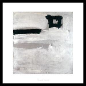 Franz Kline Untitled Poster Kunstdruck Bild im Alu Rahmen in schwarz 70x70cm