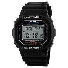 SKMEI LED Digital Stop watch Men Women Waterproof Shockproof Military Wirstwatch