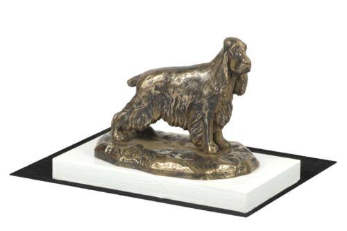 figurine with a dog on a white wooden base Art Dog USA English Cocker Spaniel