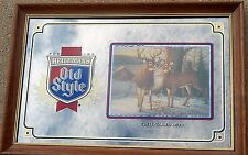 OLD STYLE Mirror Beer Sign  WHITE-TAILED DEER