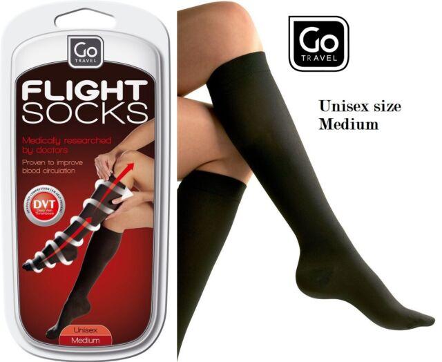 43-46 eur Black Unisex Men Flight Travel DVT compression Socks One size 9-11 uk
