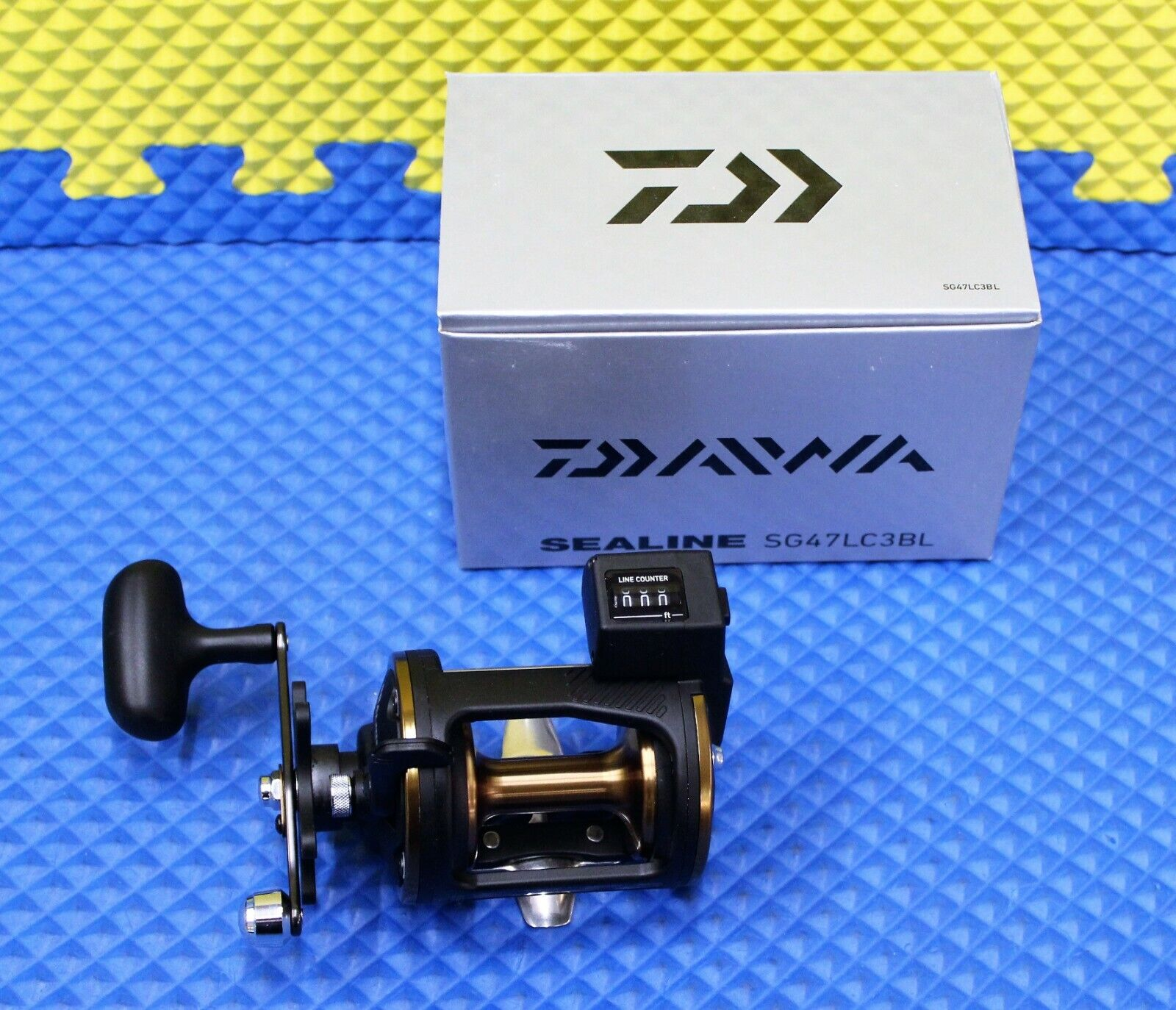 Daiwa Sealine Left Handed Line Counter Trolling Reel Fresh  Saltwater SG47LC3BL