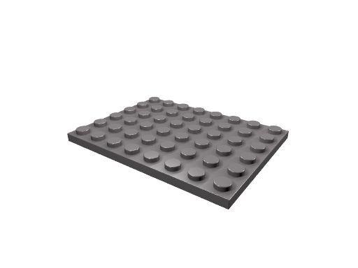 5 x [neu] LEGO Bauplatte 6 x 8 - dunkel-blaugrau - 3036