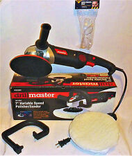 "7"" Variable Speed Polisher Buffer Waxer w/ SAFETY GLASSES & WOOL BONNET"