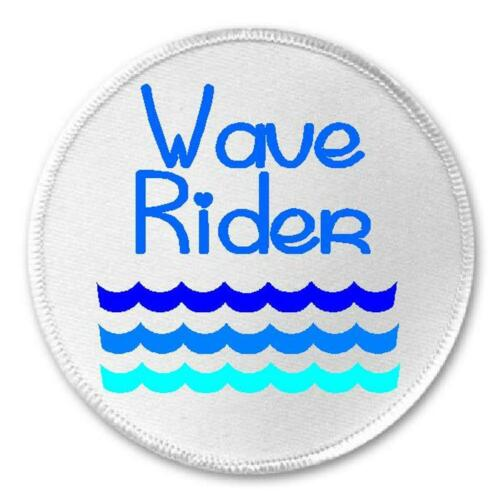 "Iron On Patch Ocean Sea Beach Surfer Surfing Surf Gift Wave Rider 3/"" Sew"