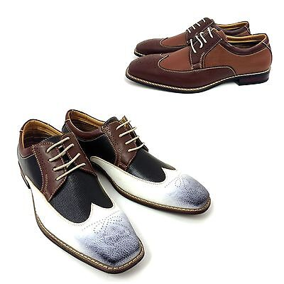 mens wing tip dress shoes lace up oxfords leather lined