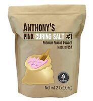 Pink Curing Salt 1 (2lb Prague Powder) By Anthony's, Verified Gluten-free