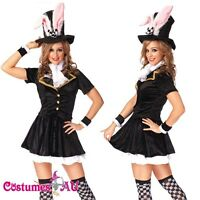 Ladies Black Easter Bunny Rabbit Costume Fancy Dress Hens Party Full Outfits