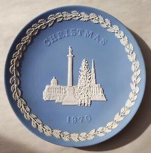 Vintage 1970 Wedgwood Blue Jasperware Christmas Series 1970 Trafalgar Square