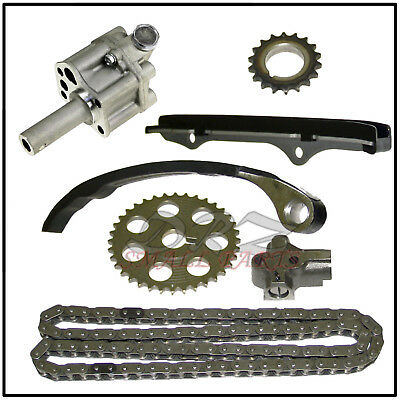 timing chain kit oil pump fits nissan 240sx axxess 2 4l. Black Bedroom Furniture Sets. Home Design Ideas