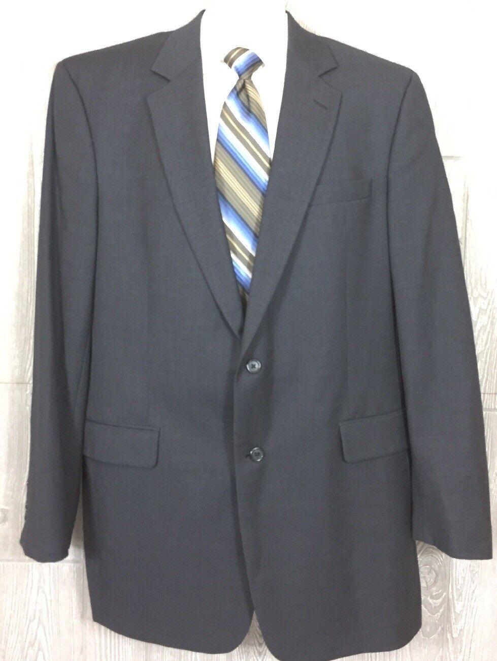 Jos A Bank  Herren Grau/Blau Wool Blazer Sport Coat Sz 44 Extra Long (t8)