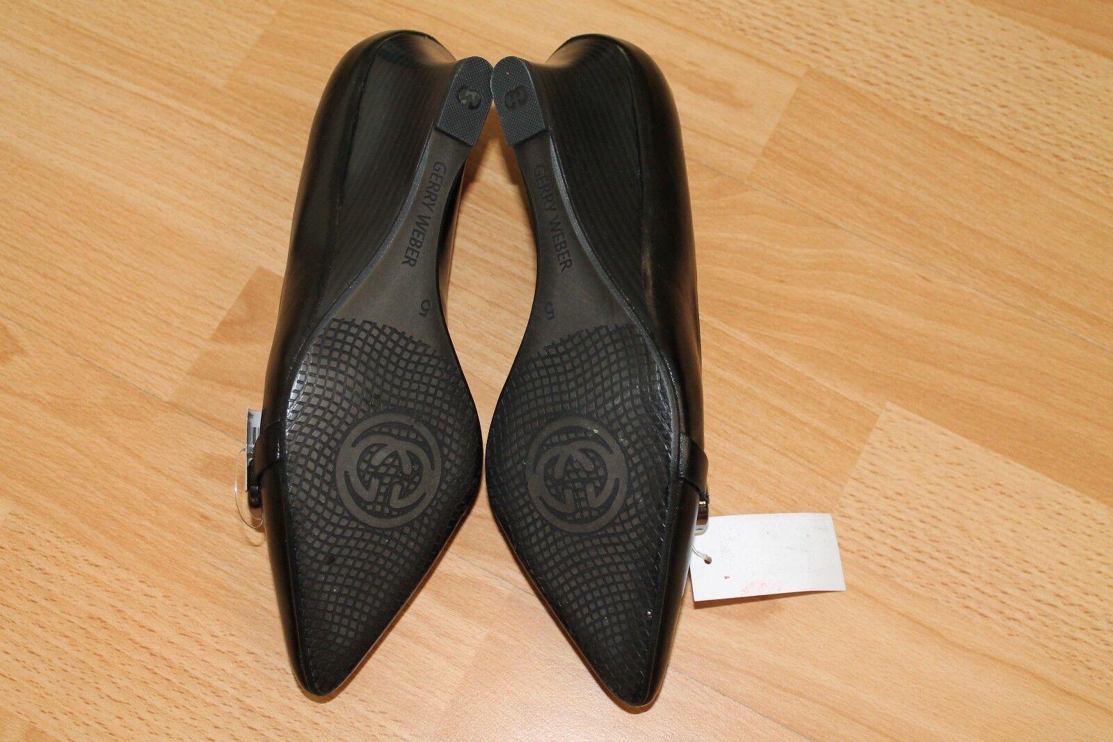 Gerry Weber Damen Schuhe Pumps Größe 38 38 Größe schwarz Echtleder Keilabsatz NEU aee7da