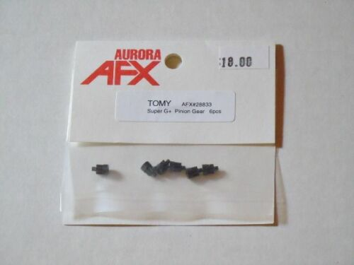 6 New Old Stock Tomy AFX Super G-Plus Slot Car Pinion Gear