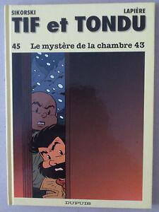 SIKORSKI-LAPIERE-TIF-ET-TONDU-45-LE-MYSTERE-DE-LA-CHAMBRE-43-EO-TBE