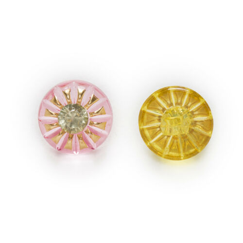 50pcs Shank Acrylic Buttons Sun Sewing Scrapbooking Handwork Gift Decor 13mm