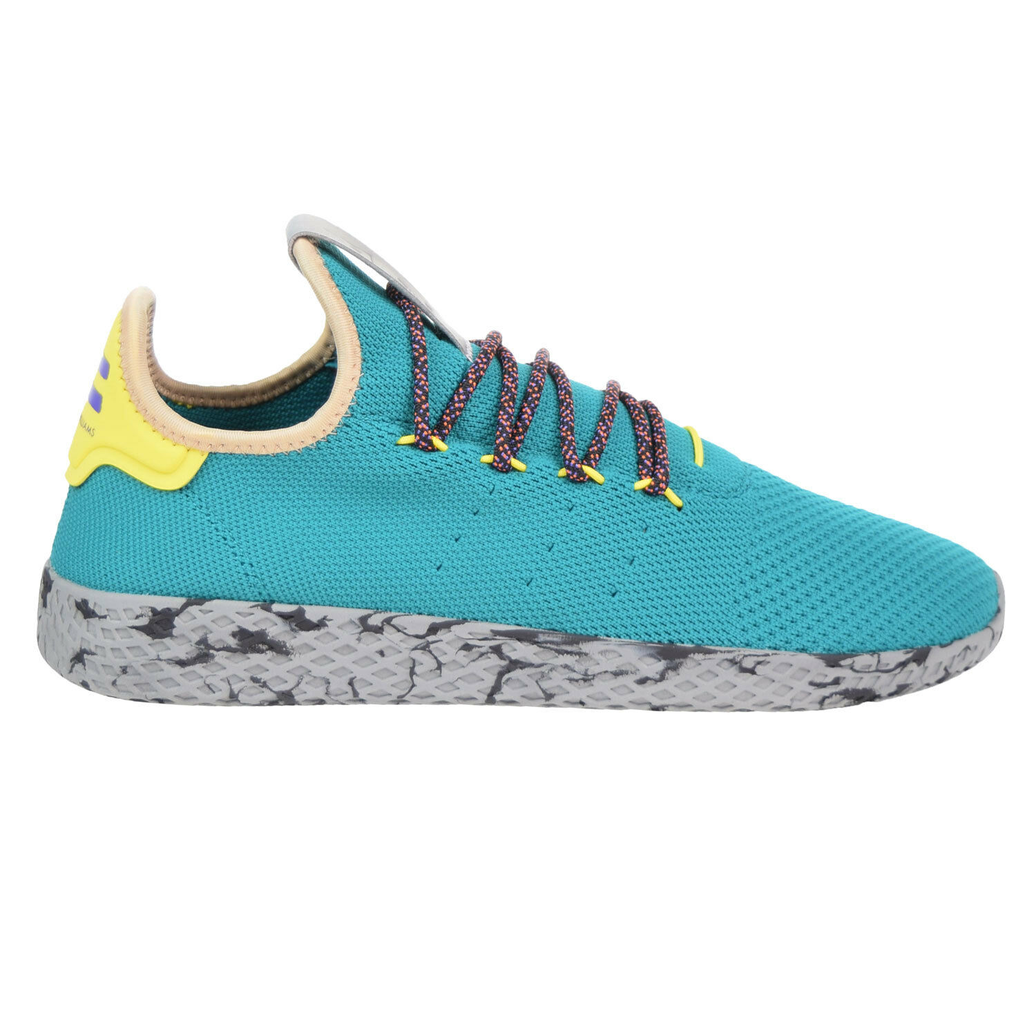 Adidas Pharrell Williams Tennis HU Men's Shoes Teal/Yellow/Grey Marble cq1872