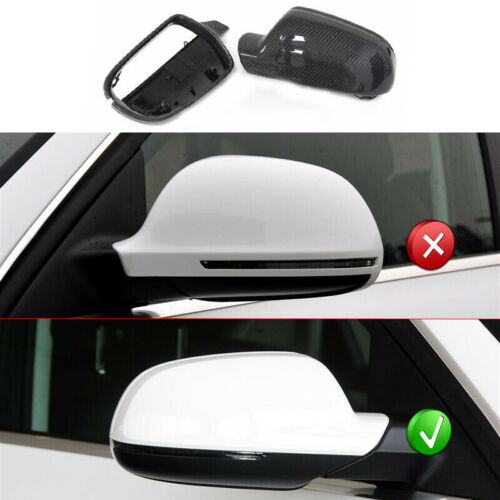 Carbon Fiber Wing Mirror Cover Cap Replace Fit for Audi A3 A4 B8.5 A5 S5 RS4 RS5