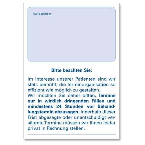 Terminzettelblock Terminblock Terminzettel Praxis Physio Arzt 10x75 Blatt DIN A7