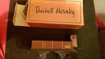Ancien Hornby O Gauge O Meccano Wagon - Tombereau Avec Vigie/ Boite D'origine