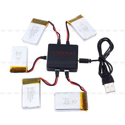 15X 720mAh Li-Po Akku Batterie mit 3 Ladegerät für Syma X5C X5SW Drohne 3,7V