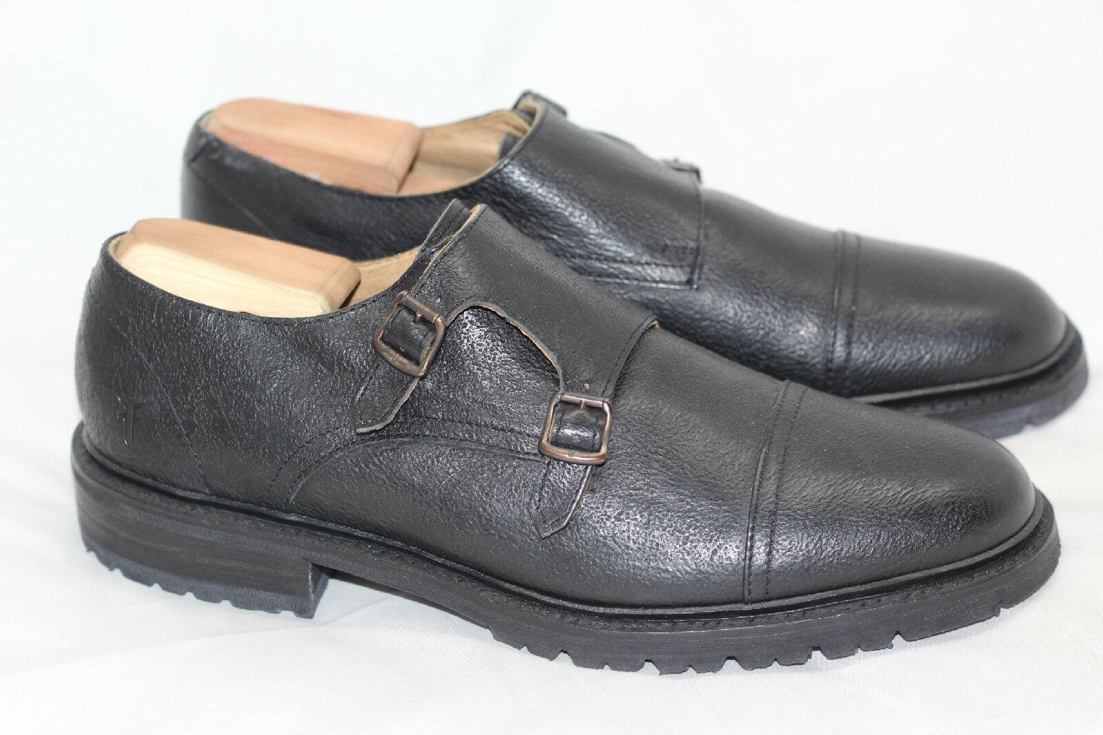 Nuevos zapatos de faja Frye James Lug Monk - negro talla 9D (w78)
