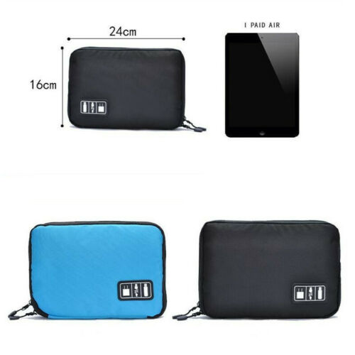 Electronic Accessory USB Drive Cable Organizer Travel Bag Insert Case Portable