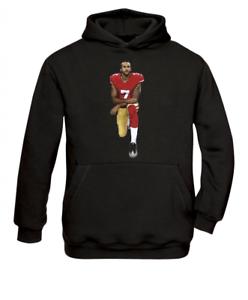 Colin Kaepernick Black Power American Football Knee Hoodie//Sweatshirt NEU